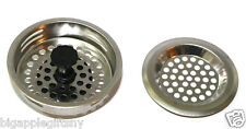 "2 PCS STAINLESS STEEL KITCHEN SINK Strainer and Stopper Set  3"" Diameter NEW"