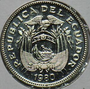 Ecuador 1980 20 Centavos BU 903748 combine