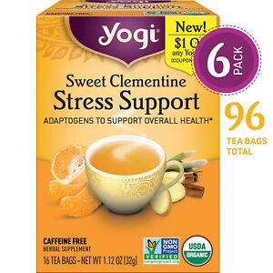 Yogi Tea - Sweet Clementine Stress Support - 6 Pack, 96 Tea Bags Total