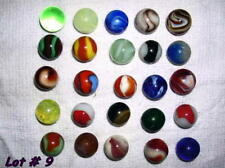 Antique 1910-20, Lot of 25  Glass Agate Marbles, Lot # 9