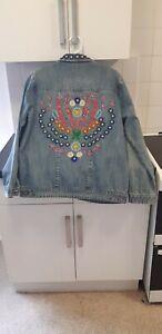 Manoush Beaded Denim Jacket - 14 /42 Beautiful boho jacket