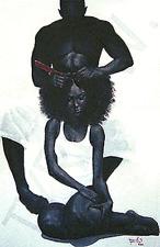 "African American Black Art Print ""GREASE"" by Tyree Whitehead"