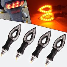 2Pairs 12V 10mm Bolt Knife Style Motorcycle LED Indicators Turn Signals Blinkers