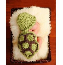 Süße Baby Mütze Schildkröte Turtles Rücken Grün - Braun Kostüm Fotoshooting NEU
