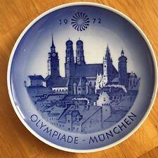 "Royal Copenhagen Collector Plate Olympiade Munchen 1972 Denmark 8"""