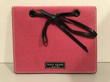Kate Spade Bright Hot Pink Black Leather Tie Personal Photo Album 8 Pages