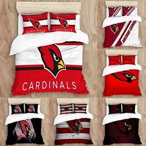 Arizona Cardinals Bedding Set 3PCS Duvet Cover Pillowcases Twin Full Queen King