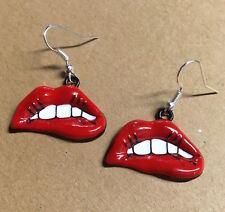 Pop Art Lèvres Boucles d'oreilles années 60 Déguisement kitsch Rouge à dents