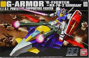 Gundam Unit G-Armor : G-Fighter+RX-78-2 Gundam HGUC 1/144 Scale
