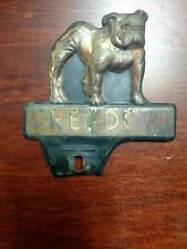 RARE Vintage Original Freedom Oil License Plate Topper Freedom PA Bulldog