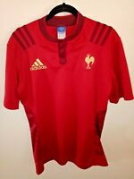 [10] ADIDAS France Alternative/Away Rugby Union Jersey Size L Very RARE Version!