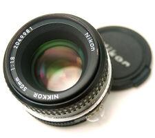 Nikon Nikkor 50MM f1.8 ai Obiettivo con messa a fuoco manuale + Cap
