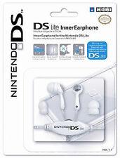 Official Hori Earphones Inner Earbud For Nintendo DS Lite DSi White (NEW)