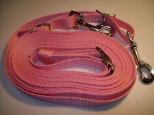 horse drawn buggy,cart,harness Mini/Pony Pink Nylon Driving/Training Reins !