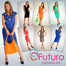 NEW Stunning Elegant Women's Dress Cowl Neck Tunic Knee Length Size 8 -12 5414