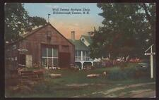 Postcard HILLSBOROUGH CENTER New Hampshire/NH  Well Sweep Antique Shop 1940's