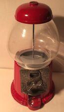 "Carousel Junior #11 1985 Bubble Gum Machine Red 11"" Cast Metal Glass Globe"