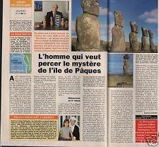 Coupure de presse Clipping 1992 André Valenta & l'île de Pâques (1 page 1/2)