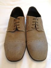 Rosso italia Distressed Suede Leather Lace-up Shoes Beige  Size uk 11 eu 45