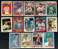 Wade Boggs -14 Cards, 1986-1994, Topps, Donruss MVP, Fleer,Score -Boston Red Sox