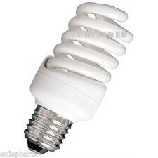 BOMBILLA Mini Espiral 25W E27 Luz Calida 2700K Bajo Consumo CFL 1400 Lumens 230v