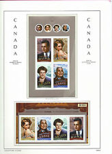 CANADA 2008  LIGHTHOUSE page 2008.6 CANADIANS IN HOLLYWOOD Booklet & M/sheet MNH