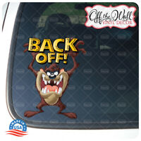 """Taz""""Back Off!"""" Vinyl Decal Sticker for Cars/Trucks"""