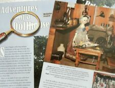 14p History Article + Pics -  Antique 18th c. Queen Anne Hinwick Baby Doll House