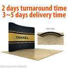 10ft Curved Back Wall Display with Custom Fabric Graphic