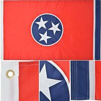 Tennessee State Flag 3' x 5' Ft 210D Nylon Premium Outdoor Embroidered Flag