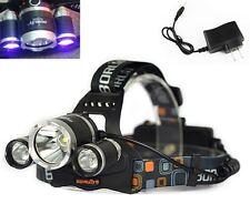 3X CREE LED (1x Cree T6 White LED + 2 x UV LEDs) 395-410nm Ultraviolet Headlamp