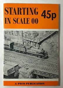 Starting in Scale 00. A Peco Publication 1968 Vintage Paperback Publication
