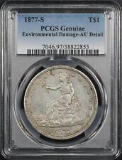 1877-S Trade Dollar PCGS AU Details Environmental Damage