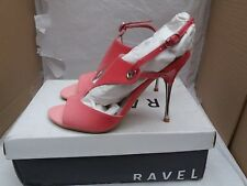 RAVEL Graduated Fuschia 'Cindy' Patent Leather Sandals - Size: UK 4 - RRP £49.50