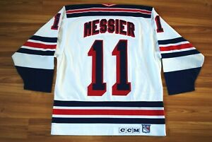 AUTHENTIC VINTAGE NHL NY RANGERS MARK MESSIER #11 SIZE MENS LARGE CCM JERSEY
