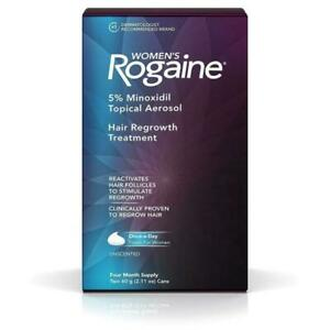 ROGAINE Womens 5% Minoxidil Hair Regrowth Treatment - 4 MONTH SUPPLY 02/2022