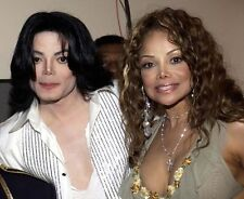 Michael Jackson and LaToya Jackson UNSIGNED photo - E1023