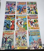 Lot of 15 Spiderman Marvel Comic Books 80s and 90s - Free Shipping