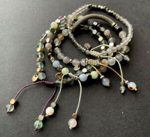 Stone Bracelet Job Lot Tagged LR Lola Rose Flourite Grey Agate