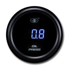 52 mm Digital Auto Oil Pressure Gauge Blue LED for CAR works with 12 V 24 V BAR