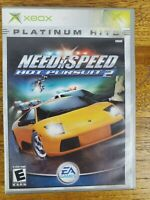 Need for Speed: Hot Pursuit 2 - Platinum Hits (Microsoft Xbox) Complete w/Manual