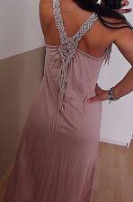 Kleid Neu M L Fransen ITALY BLOGGER Trend Hippie Boho Musthave Vintage rosa 38