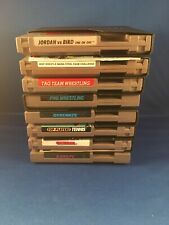 Nintendo NES Lot Of 8 Vintage Games Retro Cartridge Games Sports