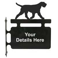 Italian Spinone Dog Metal Personalised Hanging Sign