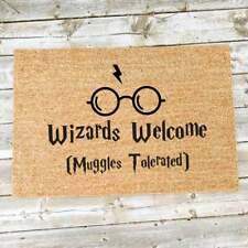 Harry Potter - Wizards Welcome Muggles Tolerated Door Mat-Glasses - Hogwarts