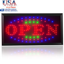 Usa】110V Led Light Flash Motion Business Open Sign Chain Switch 25*48
