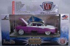 PURPLE 1955 DODGE ROYAL LANCER BLACK TOP M2MACHINES 1:64 SCALE DIECAST CAR