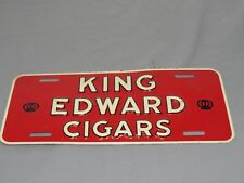 Vintage KING EDWARD CIGARS Auto License Plate Topper Tobacco Sign Attachment