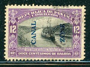 CANAL ZONE Used Selections: Scott #49 12c Purple/Black TYPE II CV$5+