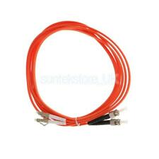 10ft Multi Mode Duplex Fiber Optical Patch Cable Cord Line ST to LC Orange